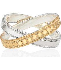 women's anna beck two-tone crisscross ring
