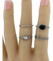 faux gem water drop ring jewelry set