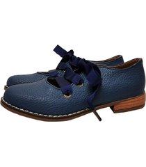 zapato azul miye collazo rayito de luz