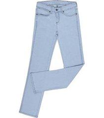calça jeans delavê cowboy cut elastano feminina