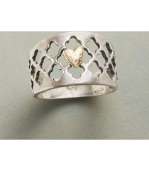 arabesque heart ring