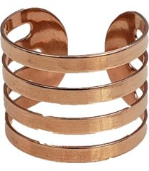anel papillô joias ajustável faixas, em ouro rosê 18k