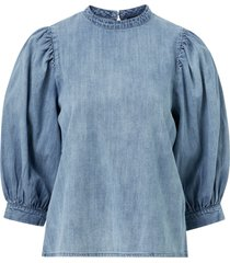 blus vmarya 3/4 denim top