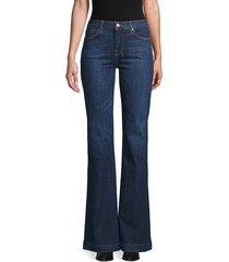 7 for all mankind women's dojo flare jeans - dark blue - size 31 (10)