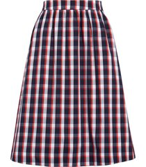 women's 1901 check pull-on skirt, size large - blue