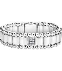 women's lagos caviar spark diamond bracelet