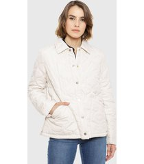 chaqueta tommy hilfiger crudo - calce regular