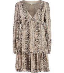 michael michael kors animalier print georgette dress