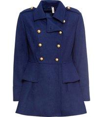 cappotto corto stile militare in misto lana (blu) - bodyflirt boutique