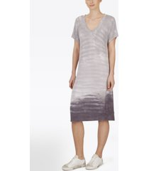adyson parker plus size short sleeve tie dye v-neck dress