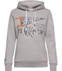 t&f classic hood hoodie trui grijs superdry