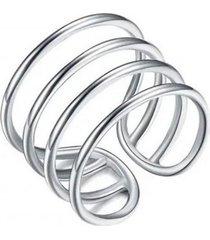 anillo cuatro bandas casual plata arany joyas