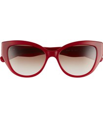 women's salvatore ferragamo vara 54mm cat eye sunglasses - opaline wine/ brown gradient