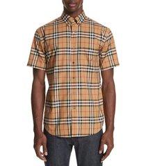 men's burberry jameson woven slim fit check sport shirt