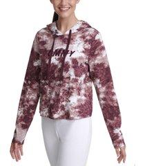 tommy hilfiger sport tie-dyed graphic hoodie