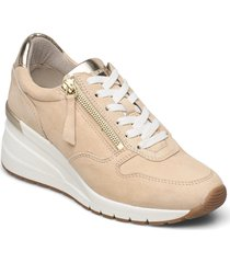 woms lace-up sneakers skor beige tamaris