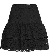 kacey skirt kort kjol svart by malina