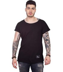 camiseta manga curta longline masculina - masculino