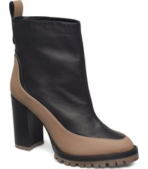 oyster bootie90-n shoes boots ankle boots ankle boot - heel svart hugo
