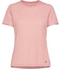 s/ntial classic ss tee w brick dust t-shirts & tops short-sleeved rosa salomon