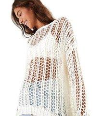 casaco farm pull tricot fitado