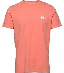 ss sign off tee t-shirts short-sleeved orange wrangler