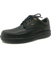 zapato de cuero negro febo super confort