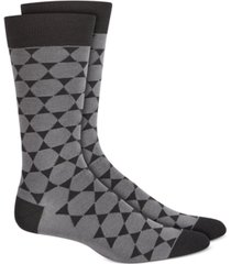 alfani men's geometric star socks, created for macy's