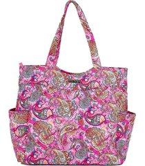 bolsa tote-shopper matelass㪠ombro  espaã§osa casual rosa - rosa - feminino - dafiti