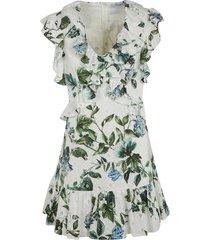 blumarine floral print ruffled dress