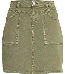 skirts woven kort kjol grön edc by esprit