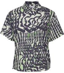 mina shirt ss aop 11332 overhemd met korte mouwen multi/patroon samsøe samsøe