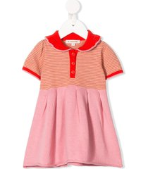 caramel portobello striped dress - pink