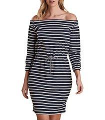 waveson off-the-shoulder striped dress