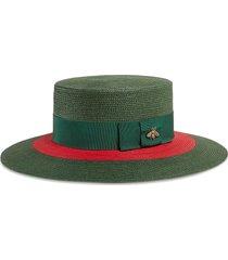 gucci papier wide brim hat - green