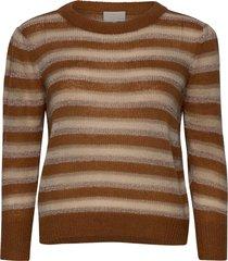 catia knit pullover gebreide trui bruin minus