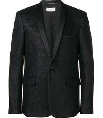 saint laurent lurex dinner jacket - black