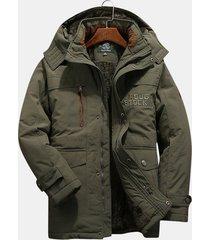 giacca invernale multi tasche antivento da uomo con cerniera multiuso