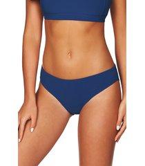 women's sea level bikini bottoms, size 8 us - blue