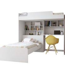 mã³dulo office new c/cama juvenil branco santos andirã¡ - branco - dafiti