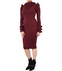 marie ruffle dress