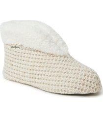 dearfoams women's textured knit bootie slippers, online only