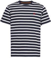 yd stripe tee t-shirts short-sleeved blå timberland