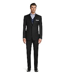 signature gold traditional fit herringbone men's suit clearance by jos. a. bank