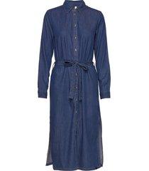 pzjosie dress knälång klänning blå pulz jeans