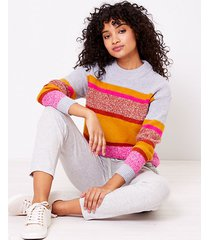 loft lou & grey striped sweater