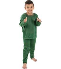 pijama  linha noite longo verde escuro