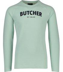 butcher of blue sweater mint groen