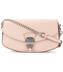 tod's chunky hardware shoulder bag - pink