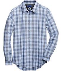 joe joseph abboud repreve® light blue check sport shirt